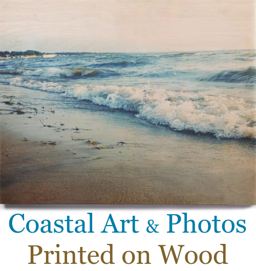 Coastal Beach Art & Photography Printed on Wood