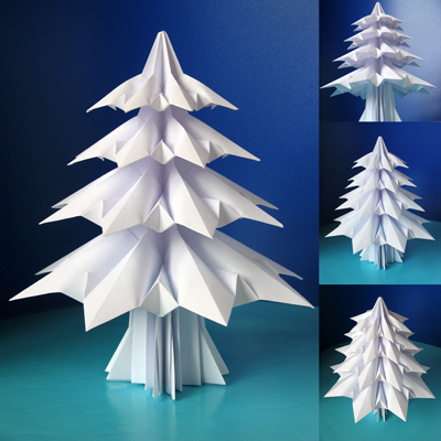 Fans Of Paper Folding Will Admire Francesco Guarnieris Work Including This Fantastic Fir Tree Sara Adams Happy Demonstrates How To Make It