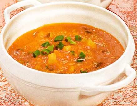 Суп с креветками и рисом