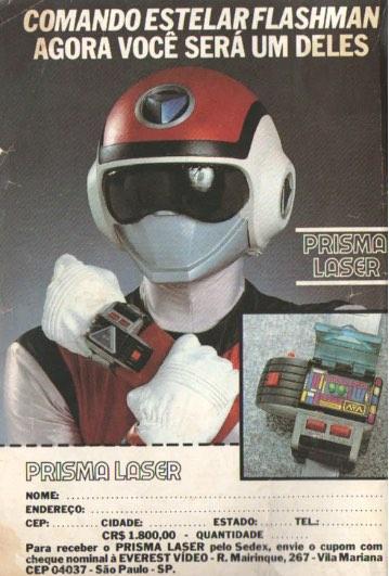 Propaganda antiga de acessório do Comando Estelar Flashman nos anos 90