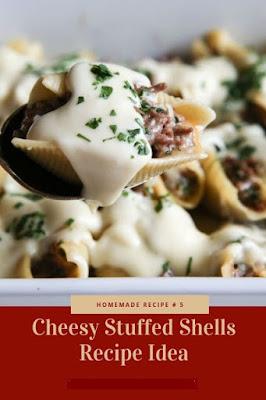 Cheesy Stuffed Shells Recipe Idea