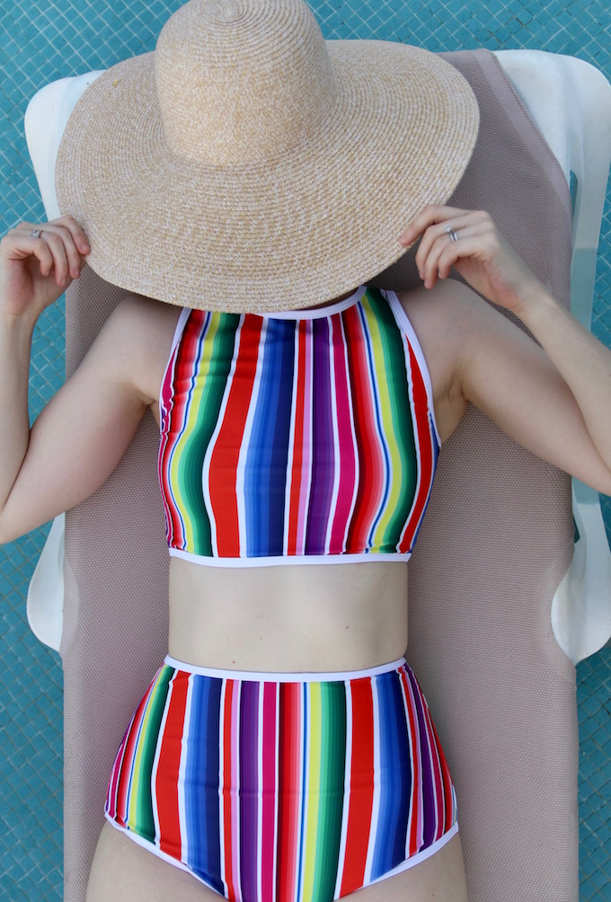 Two Piece swimsuit, high waisted bottoms, high waisted swimsuit, high waisted two piece, mexico vacaction, vacation outfit, vacation style, bathing suit, mexico swimsuit, kingdom state, jesse coulter blog, vacation style