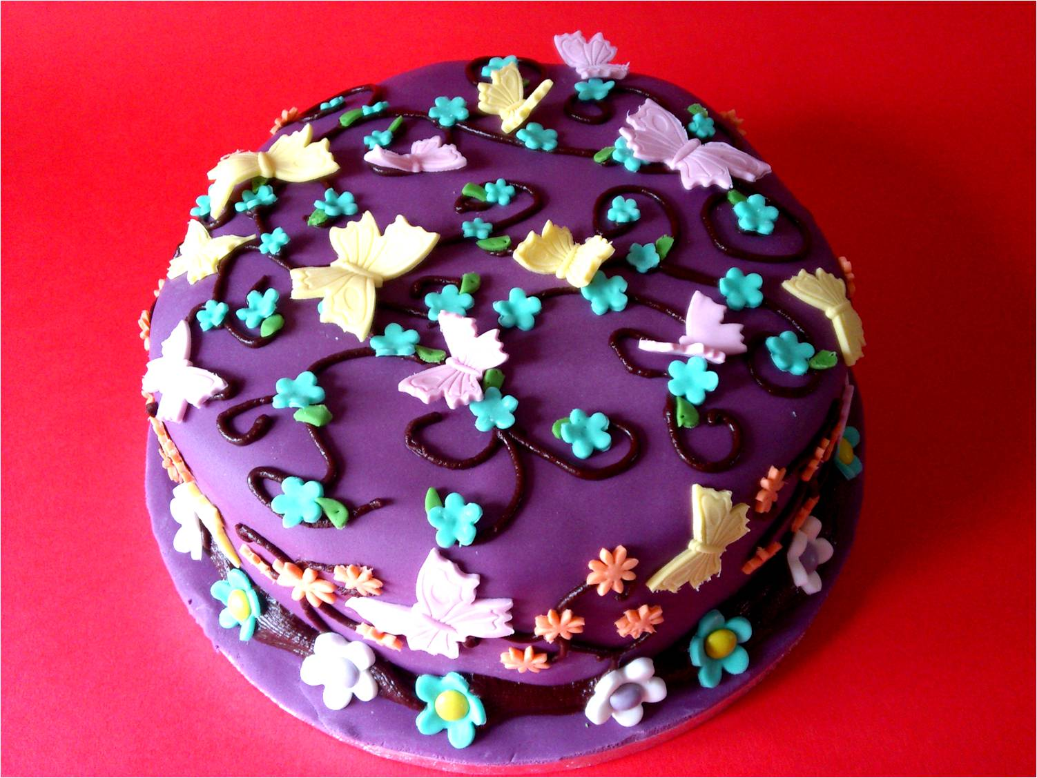 A very girlie chocolate birthday cake Utterly Scrummy Food For