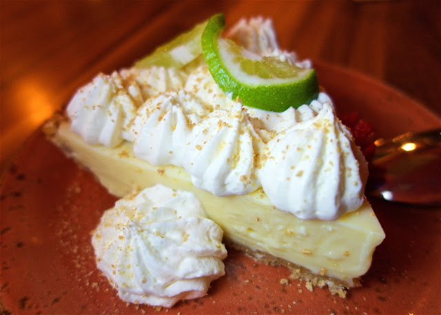 Brotula's Key Lime Pie topped with white chocolate whipped cream - THE BEST! LOVED the white chocolate whipped cream.