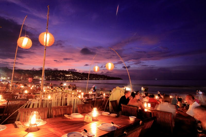 Teba Mega Cafe, Jimbaran Sunset View