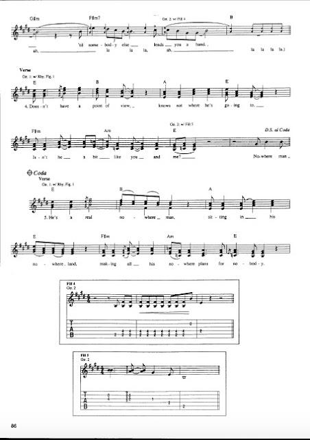 The Beatles - Nowhere Man partitura