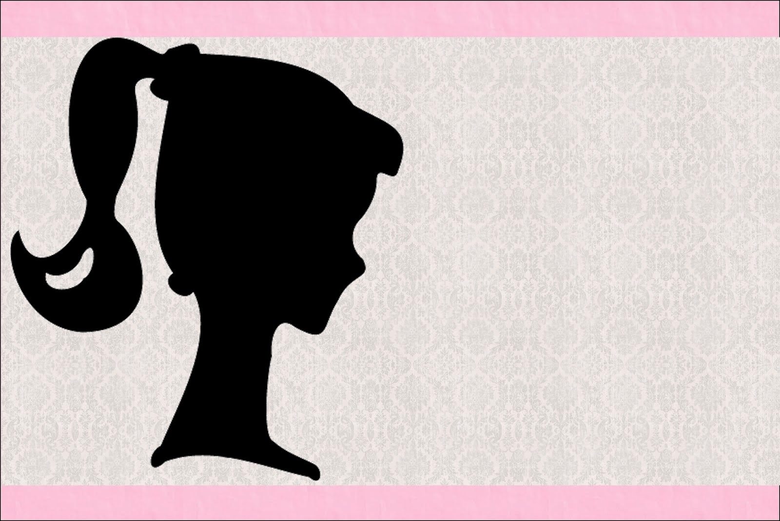 image regarding Free Printable Silhouettes identify Barbie Silhouette: No cost Printable Invites. - Oh My