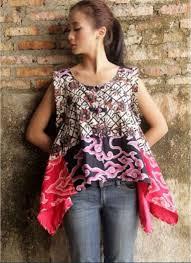 Model Baju Batik Blouse Wanita Terbaru