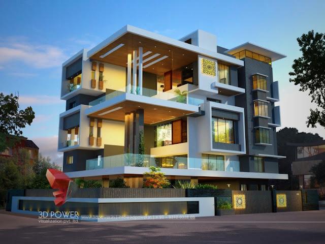 3d Apartment Design Exterior 3d animation, 3d rendering, 3d walkthrough, 3d interior, cut