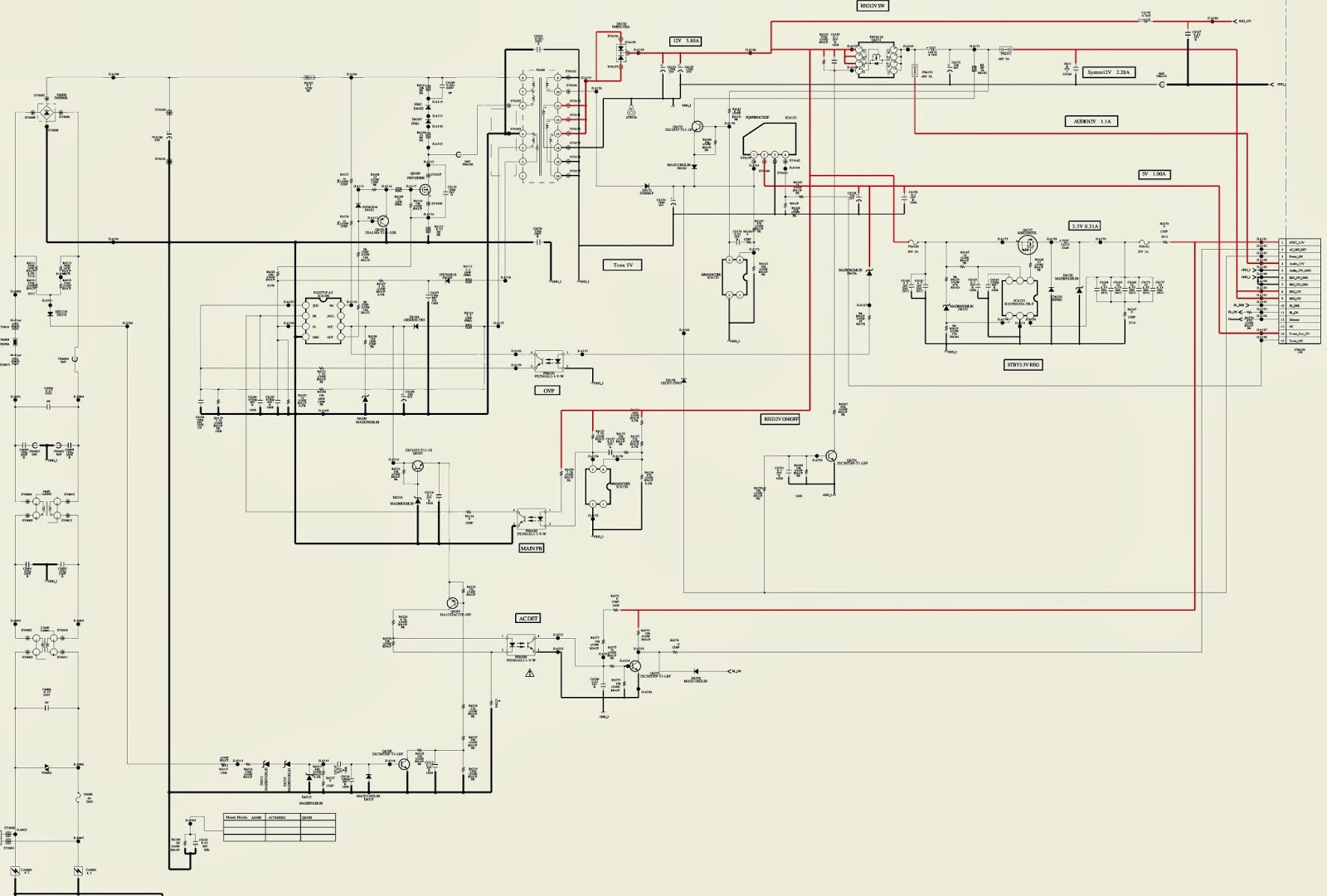 Sony Kdl32bx300 Kdl22bx300 Lcd Tv Smps Power Supply Circuit Diagram Together With Led Schematic