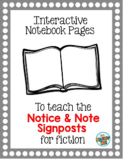 https://www.teacherspayteachers.com/Product/Interactive-Notebook-Pages-for-the-Notice-and-Note-Signposts-2051575