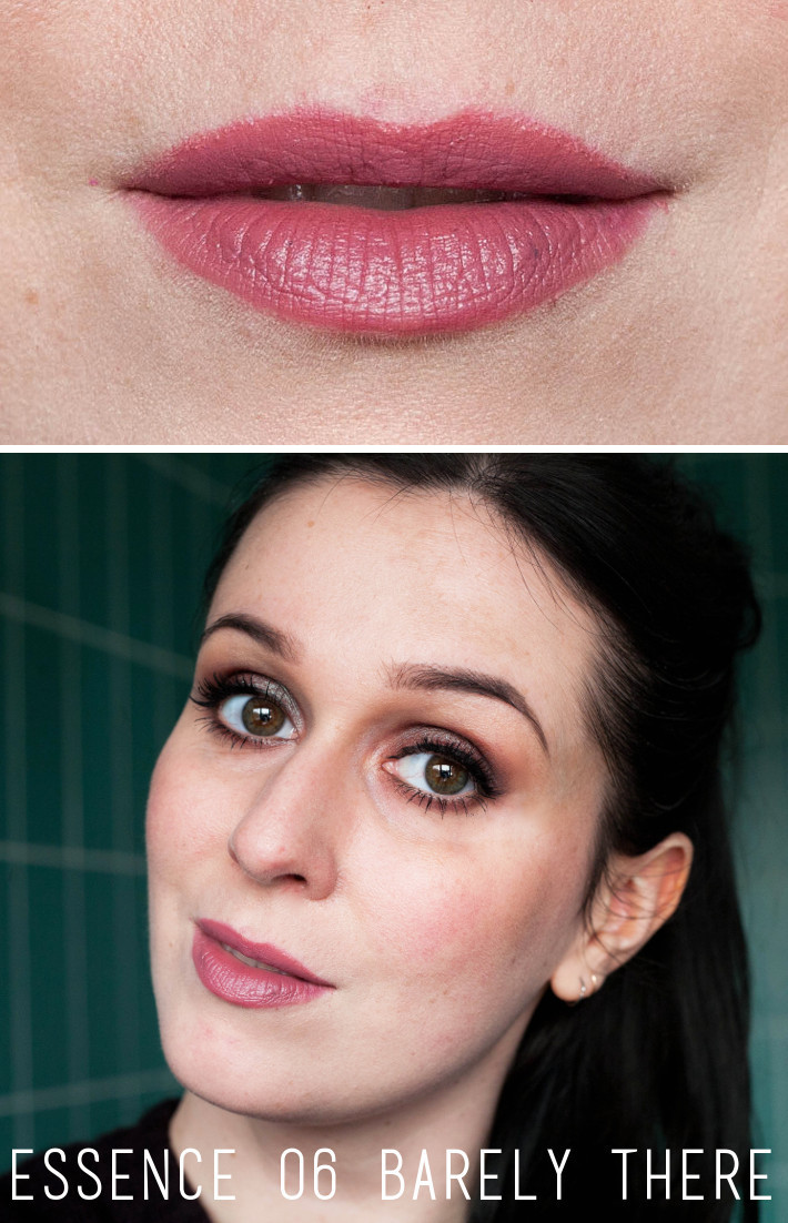 Essence 06 Barely There matte lipstick review and swatches