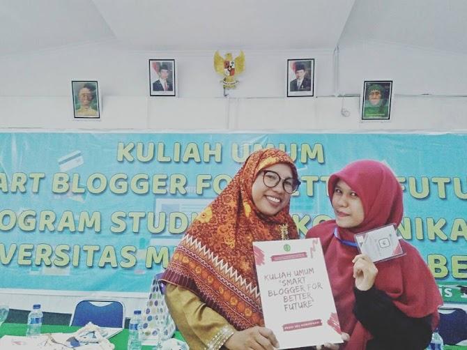 Pengalaman Mengisi Kuliah Umum Tentang Blogger.