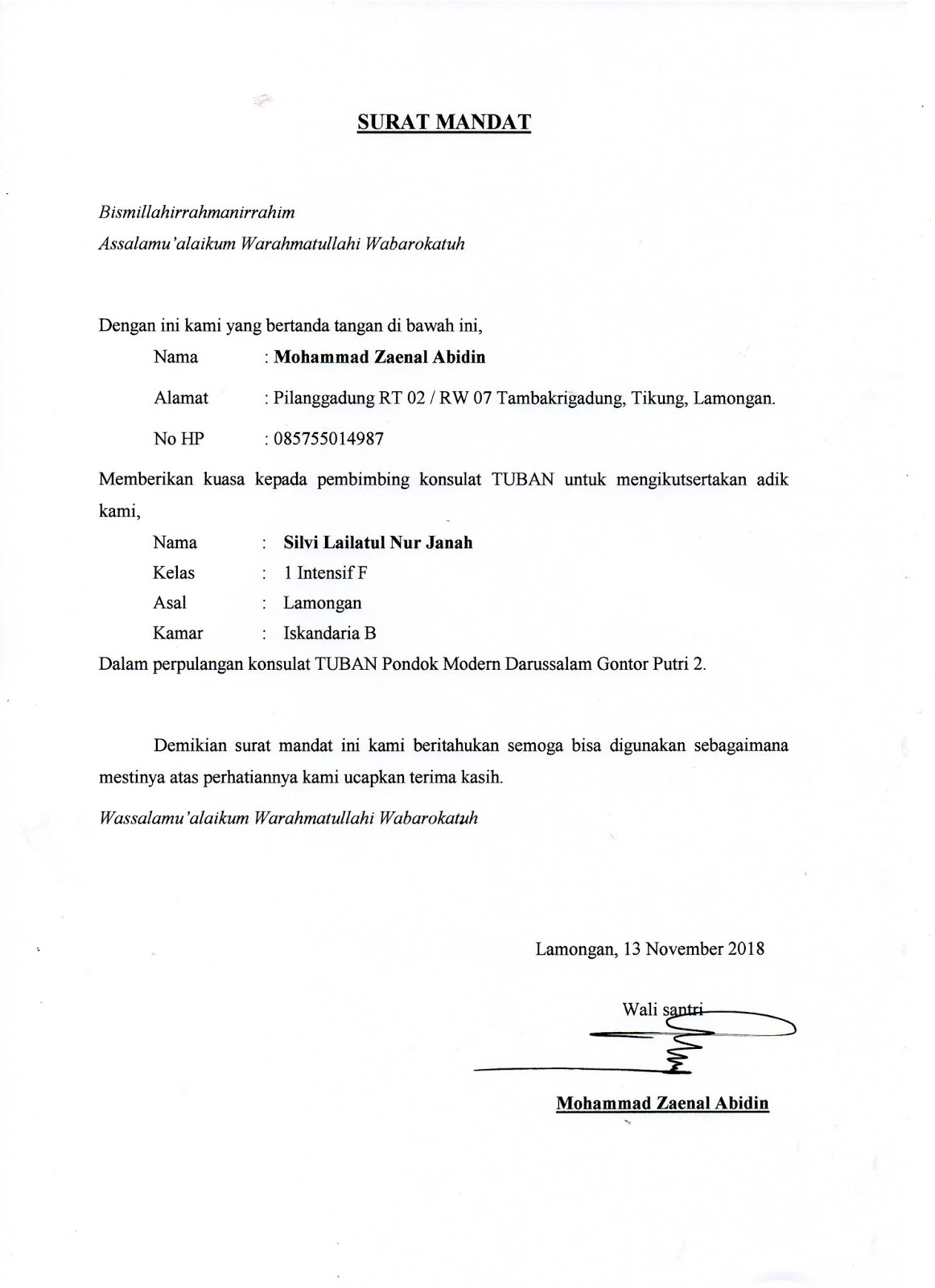 Contoh Surat Mandat : contoh, surat, mandat, Contoh, Surat, Mandat, Gudang