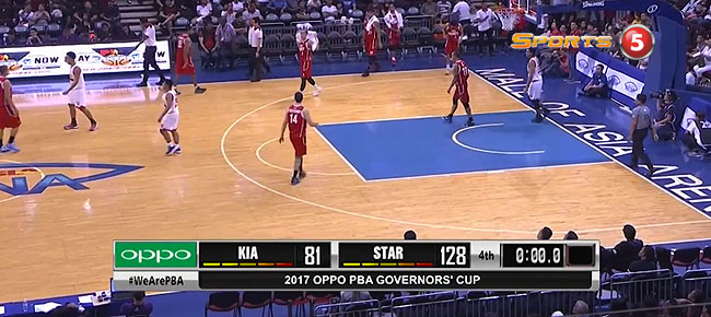 Star Hotshots def. KIA Picanto, 128-81 (REPLAY VIDEO) September 22