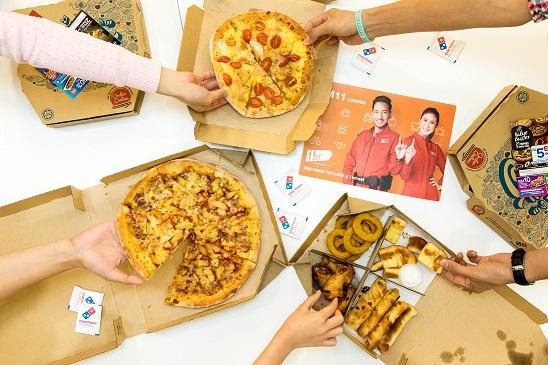 Terima kupon 11street bernilai RM11 apabila anda membeli Fabulous Four baru dari Domino Pizza Malaysia