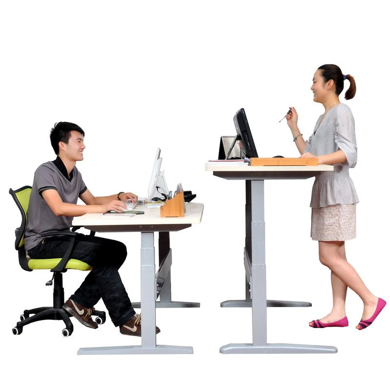 exellent height of office desk three legs electric adjustable for