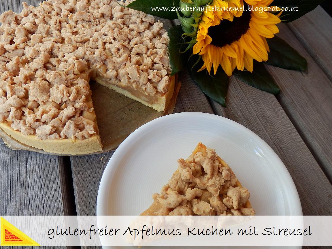 Zauberhafte Krumel Glutenfreier Apfelmuskuchen Mit Streusel