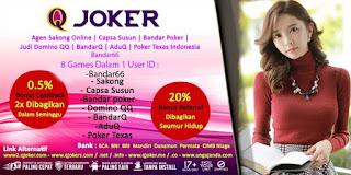 Tips Panduan Bermain Bandar Poker Online QJoker - www.Sakong2018.com