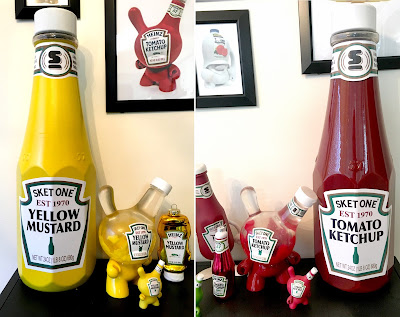 Sketchup & Mustard Oversized Custom Bottles by Sket One