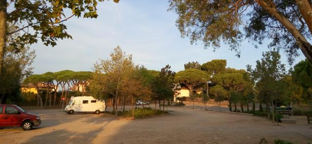 Estacionament i pernocta a Calella de Palafrugell