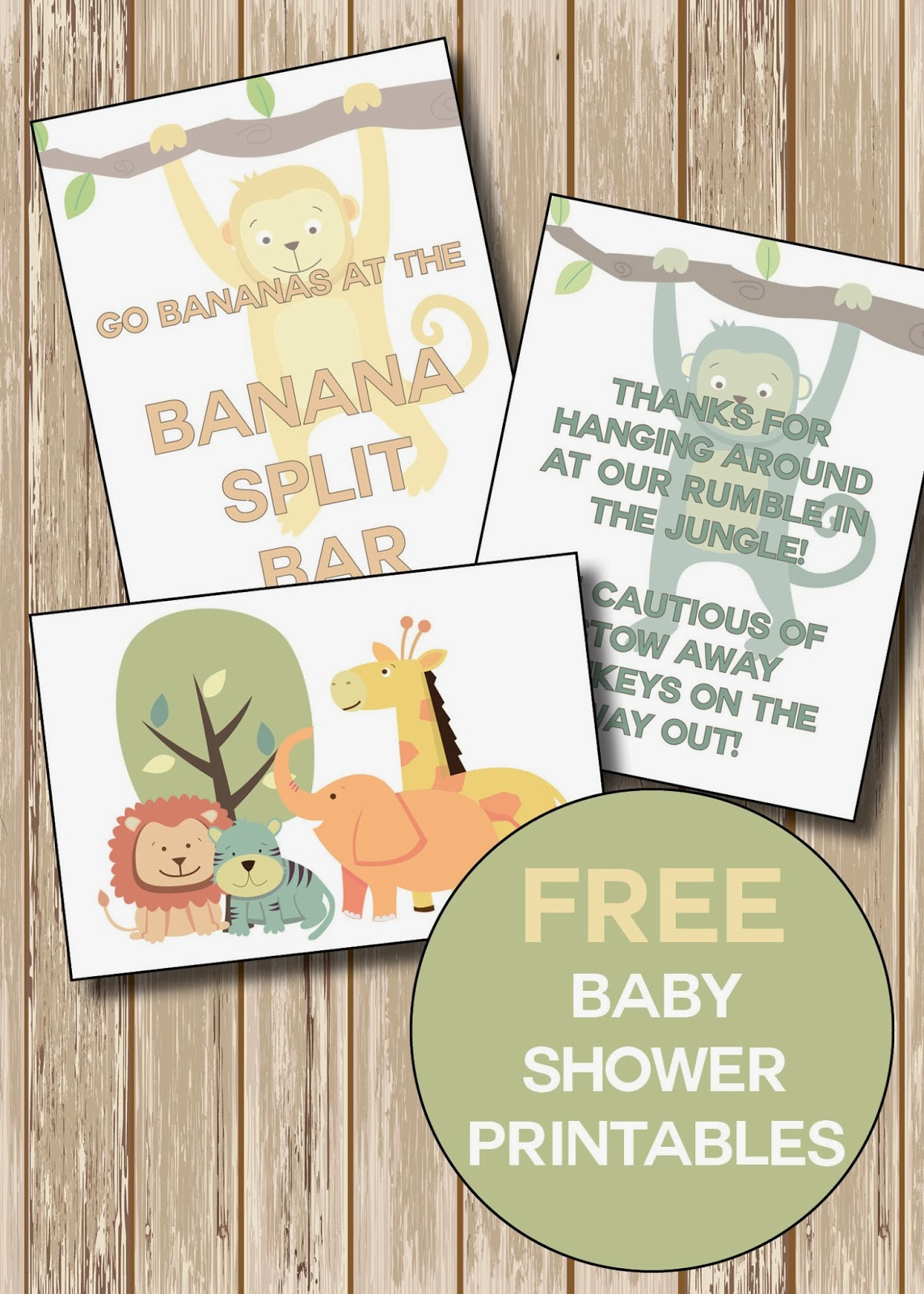 Paperlark Studio Jungle Safari Themed Baby Shower With