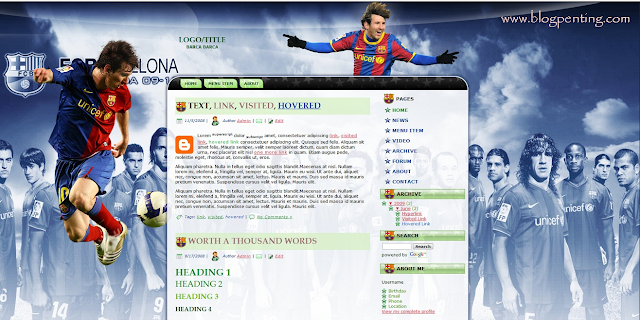 Template Blog FC Barcelona