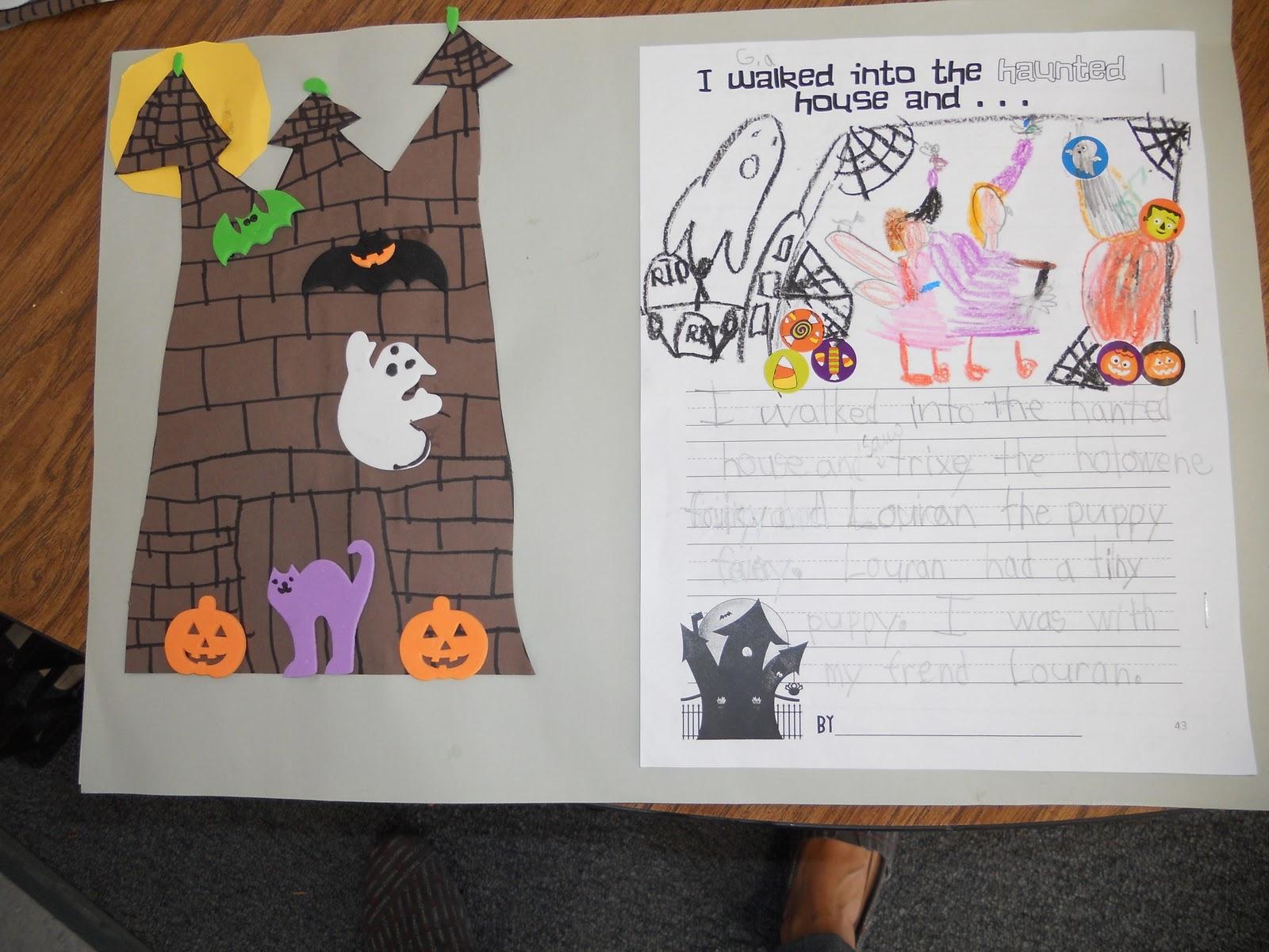 Teacher Bits And Bobs After The Fact Haunted House Art D A Houghton Mifflin Freebie