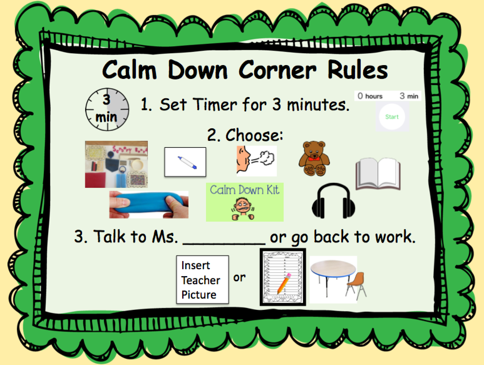 Geeked Out First Grade Calm Down Corner