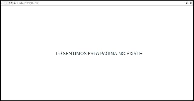 Personalizar pagina no encontrada o error 404 en Laravel 5.4