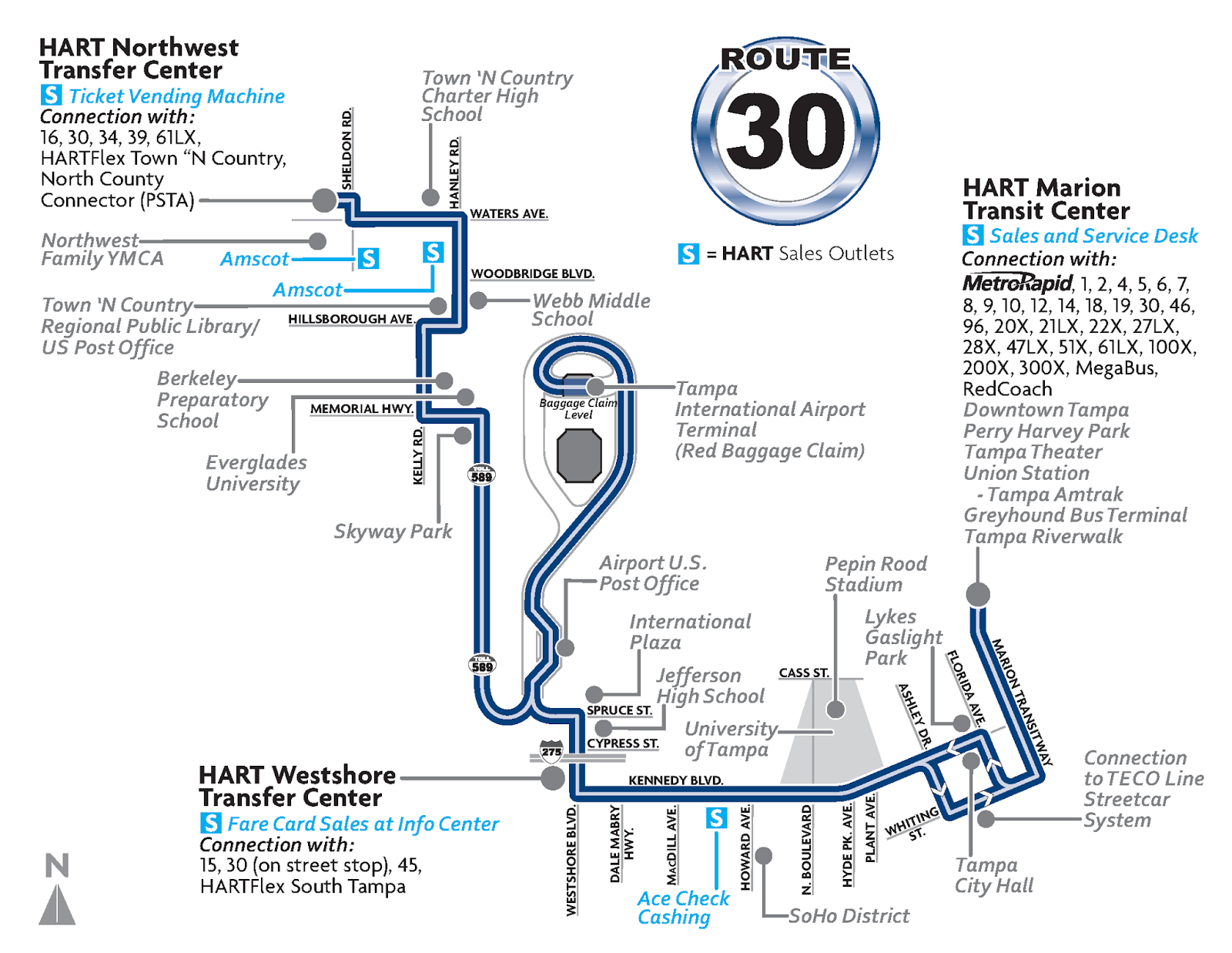 hight resolution of route 30 operates from the town n country area to downtown tampa