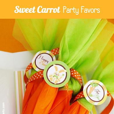 DIY Super Easy Mock Carrot Easter Party Favors