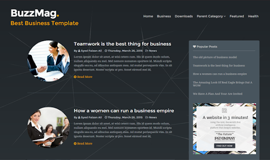 BuzzMag Responsive Blogger Template | Templateism