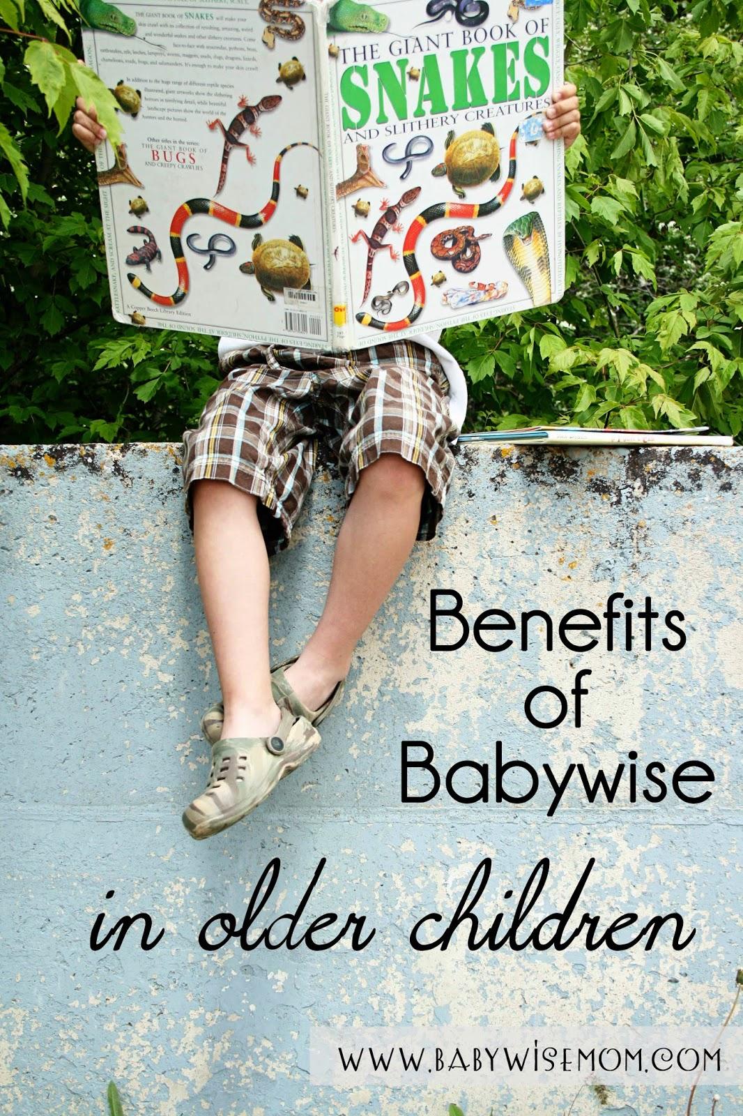 Benefits of Babywise in older children
