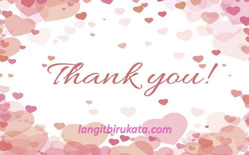 Ucapan Terima Kasih Bahasa Inggris Untuk Pujaan Hati