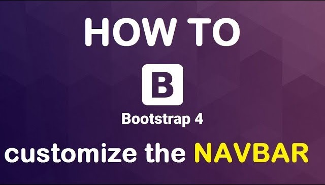 How To Change The Bootstrap 4 Navbar Background Color Code Explained