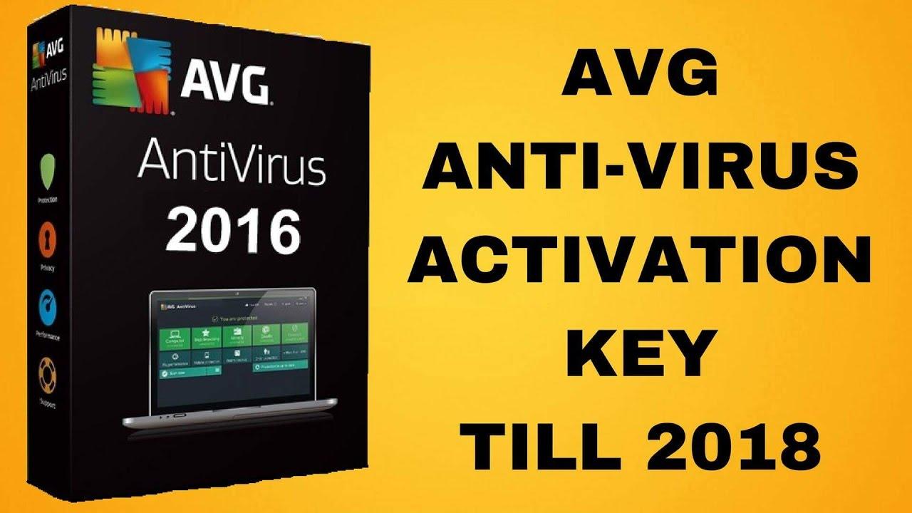 avg antivirus 2016 serial key till 2018