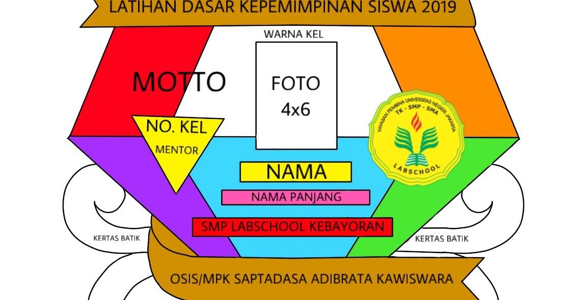 SMP Labschool Kebayoran: NAMETAG LDKS 2019