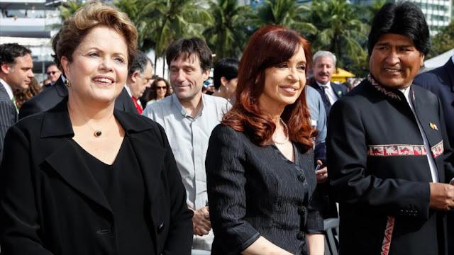 Morales: Rousseff y Fernández son víctimas de la embestida política de la derecha