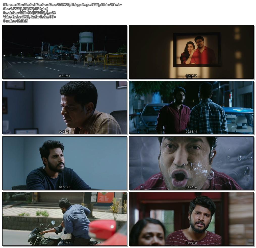 Ninu Veedani Needanu Nene 2019 720p Telugu HDRip ESub x264 | 480p 300MB | 100MB HEVC Screenshot