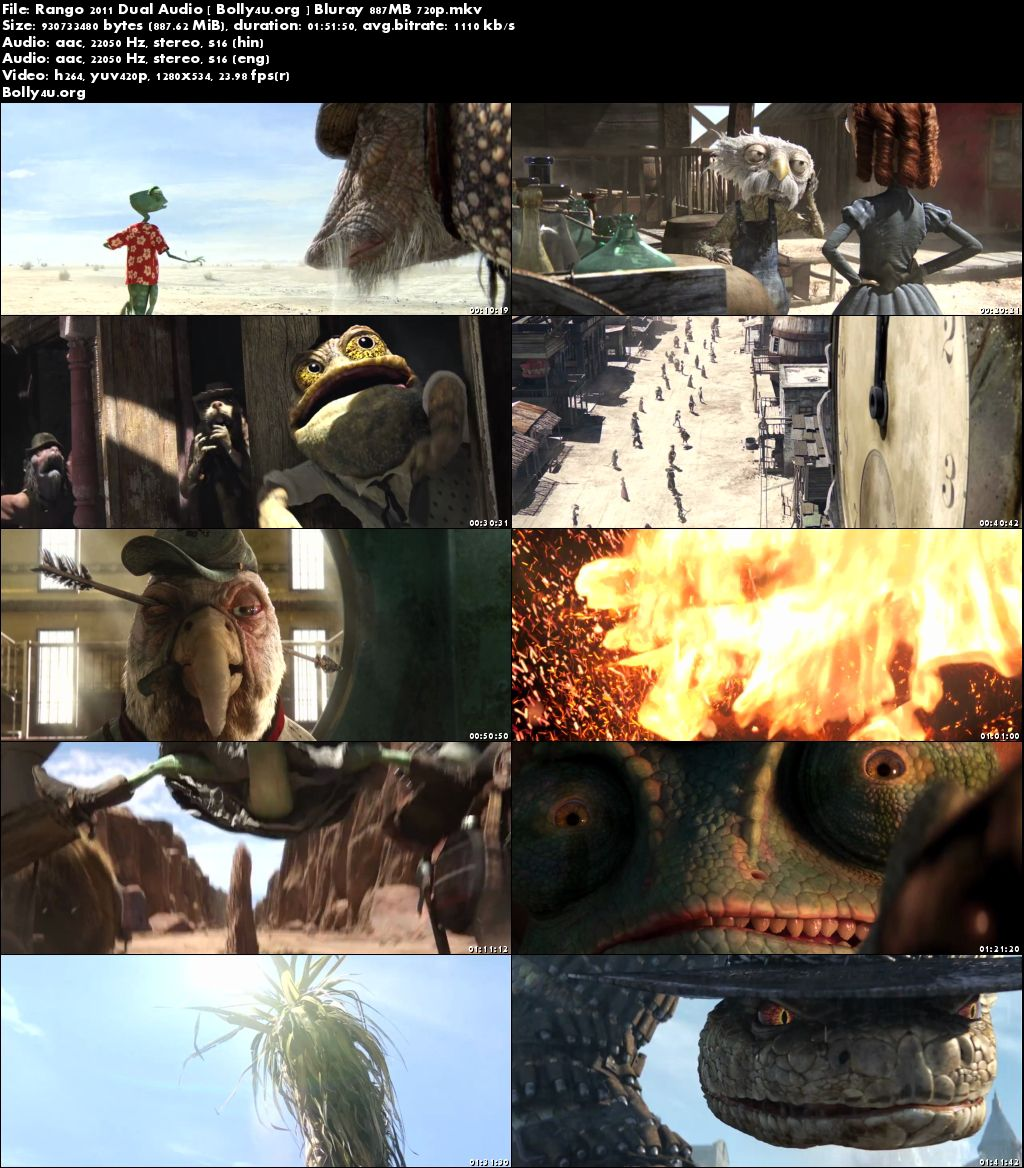 Rango 2011 BRRip 350MB Hindi Dual Audio 480p Download