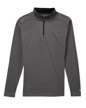 Badger BD4103 B-Core Ladies Quarter Zip Pullover - Graphite/ Black - M