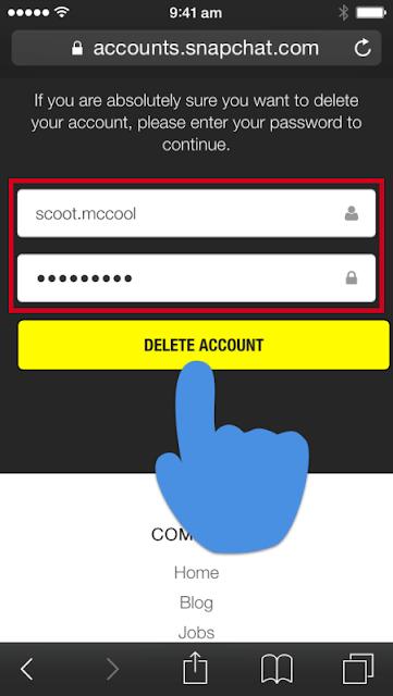 كيفية حذف حساب سناب شات نهائيا