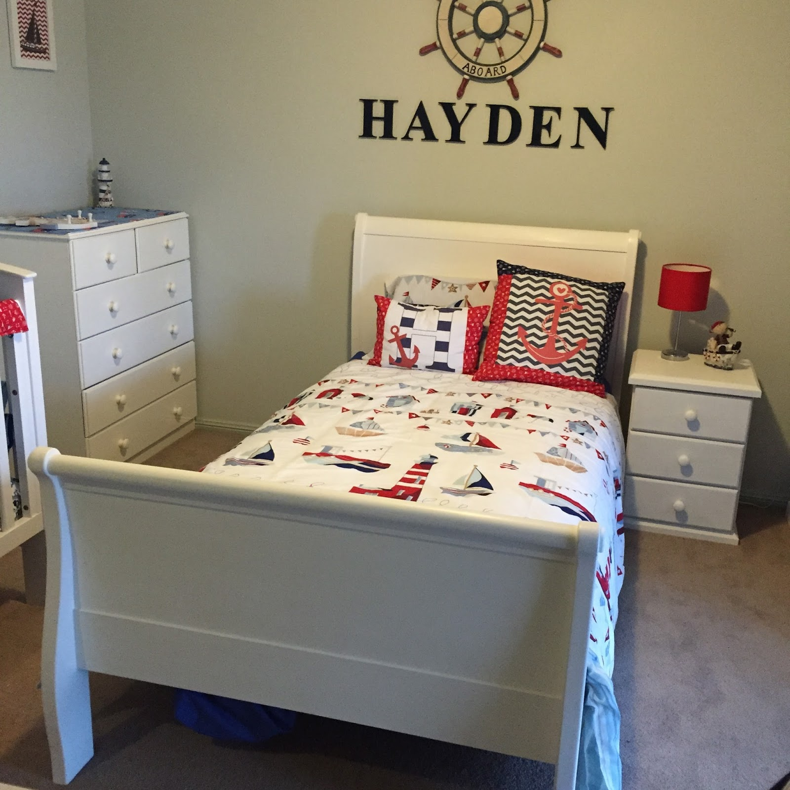 Lola 39 S Garden Made By Krystle Furnishing My Sons Bedroom With Second Hand Furniture And