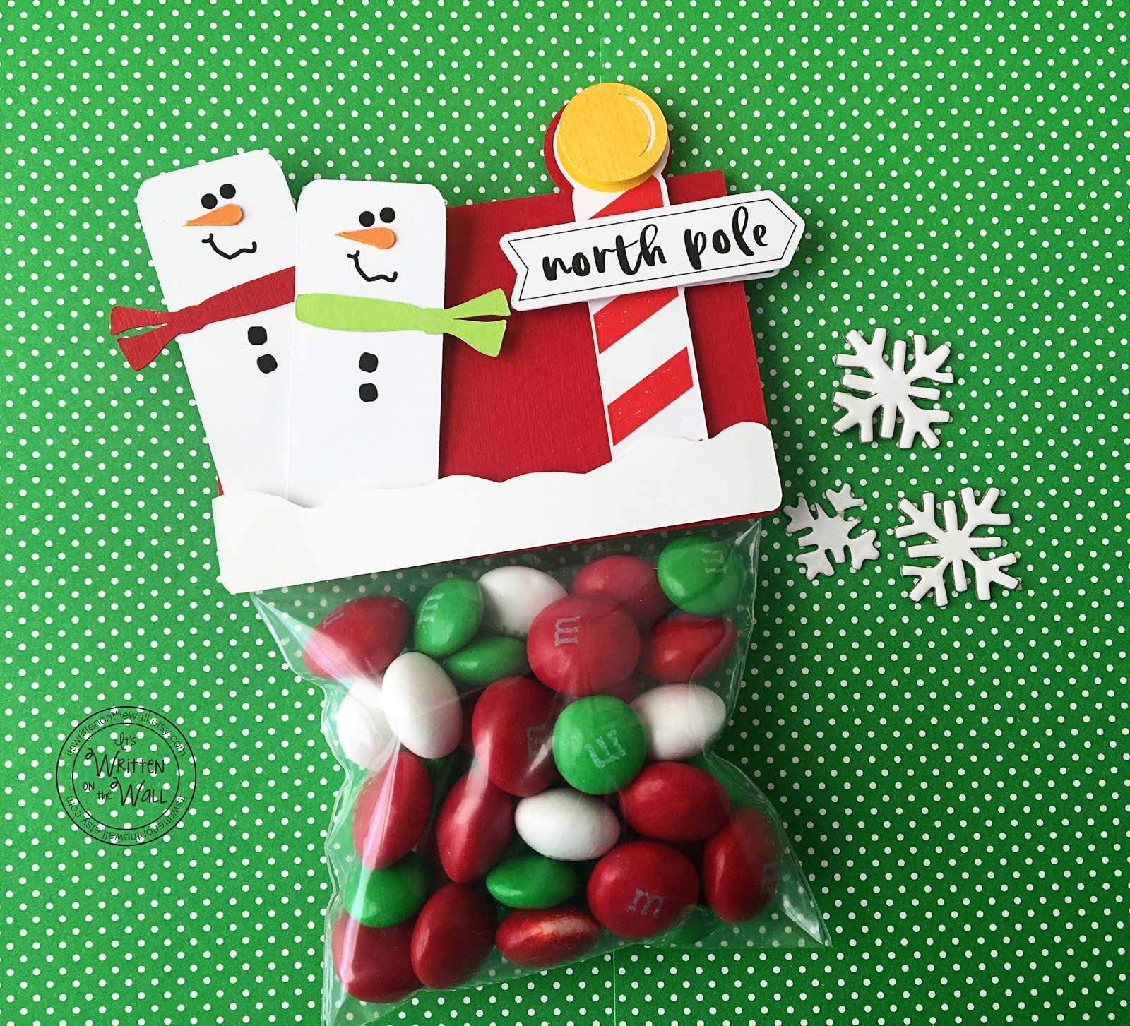 Merry Snowman Treat Bags-Christmas Candy