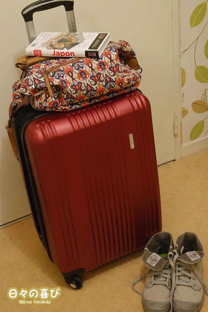 bagages voyage au japon
