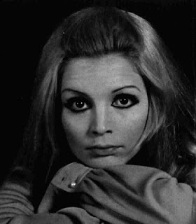 Patty Pravo depicted in a magazine publicity photograph from around 1970