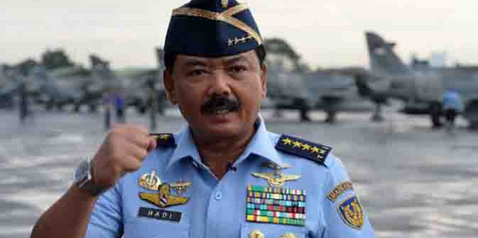 Jokowi Lantik Marsekal Hadi jadi Panglima TNI Sore Ini