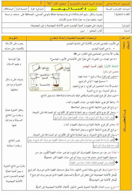 مذكرات الاسبوع الخامس جميع المواد السنة الرابعة ابتدائي الجيل الثاني