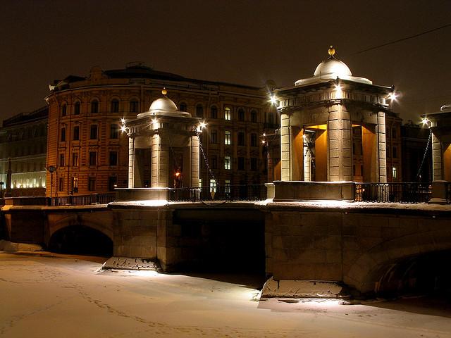ponte Lomonosov san pietroburgo